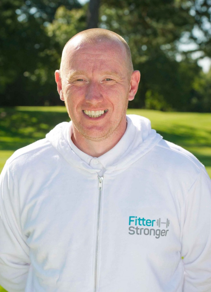 Simon Jones with Fitter, Stronger
