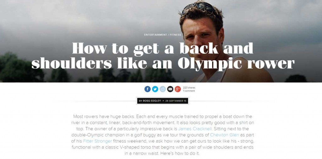 Fitter Stronger article with GQ Magazine